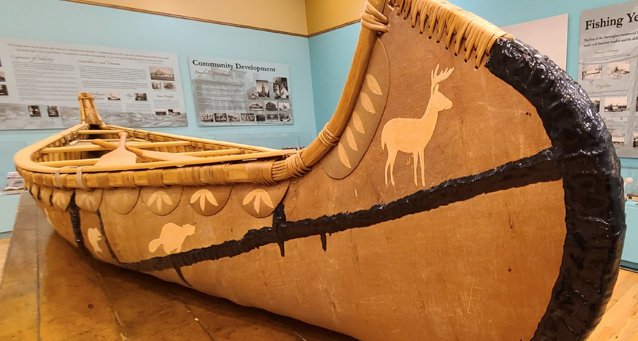 Traditional Anishinaabe Birchbark Canoe