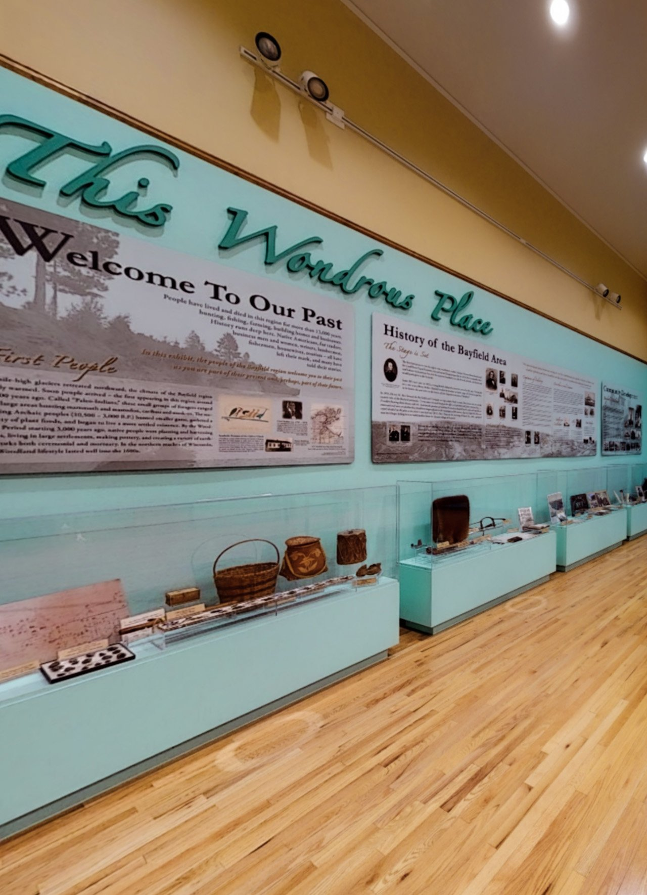 The History of Bayfield exhibit.