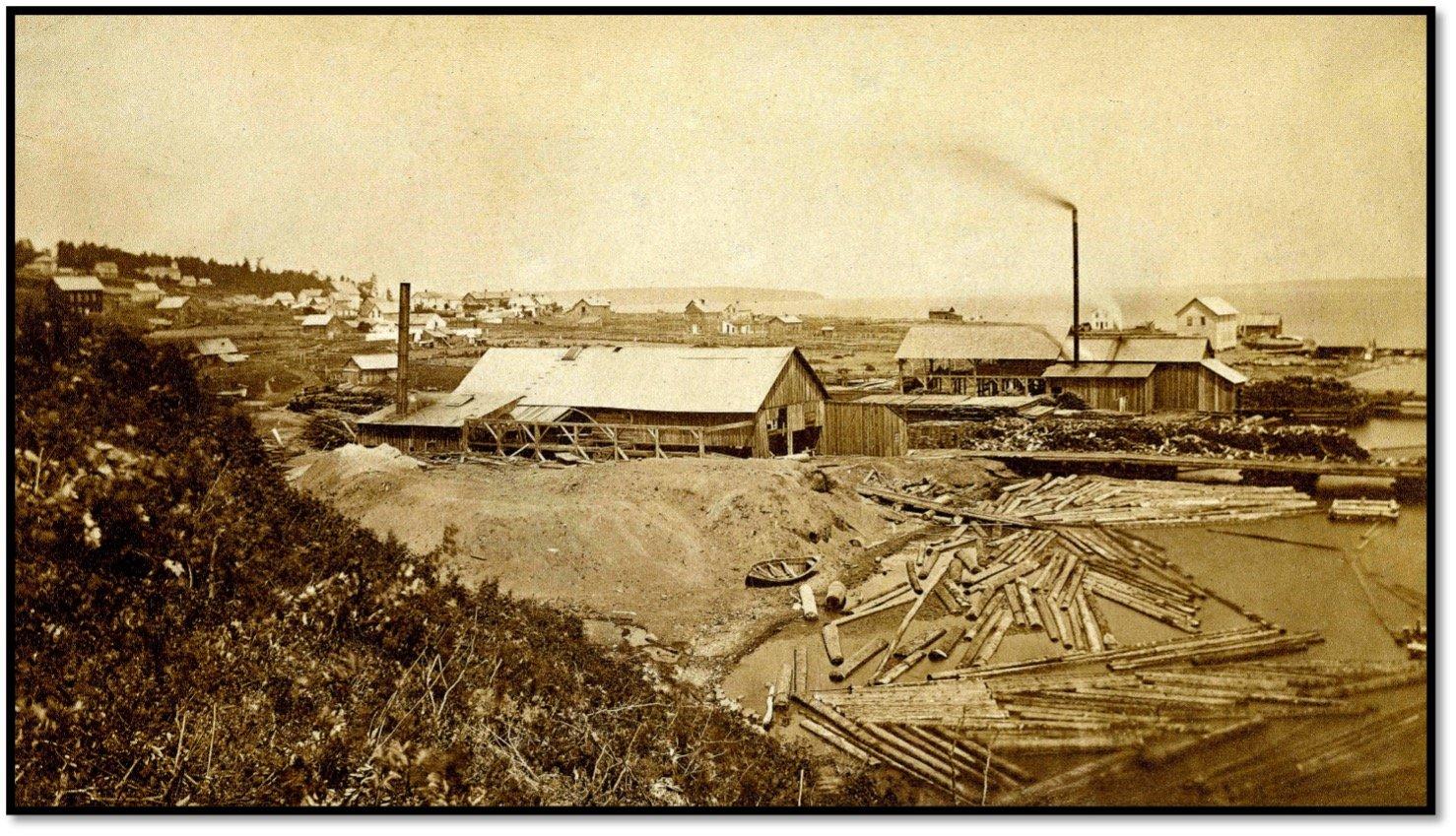 R.D. Pike Lumber Mill ca 1875 Photo BHA 1999.25.006