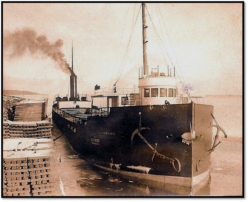The Ireland at the East Dock ca 1900 Burt Hill photo Robert J Nelson Collection