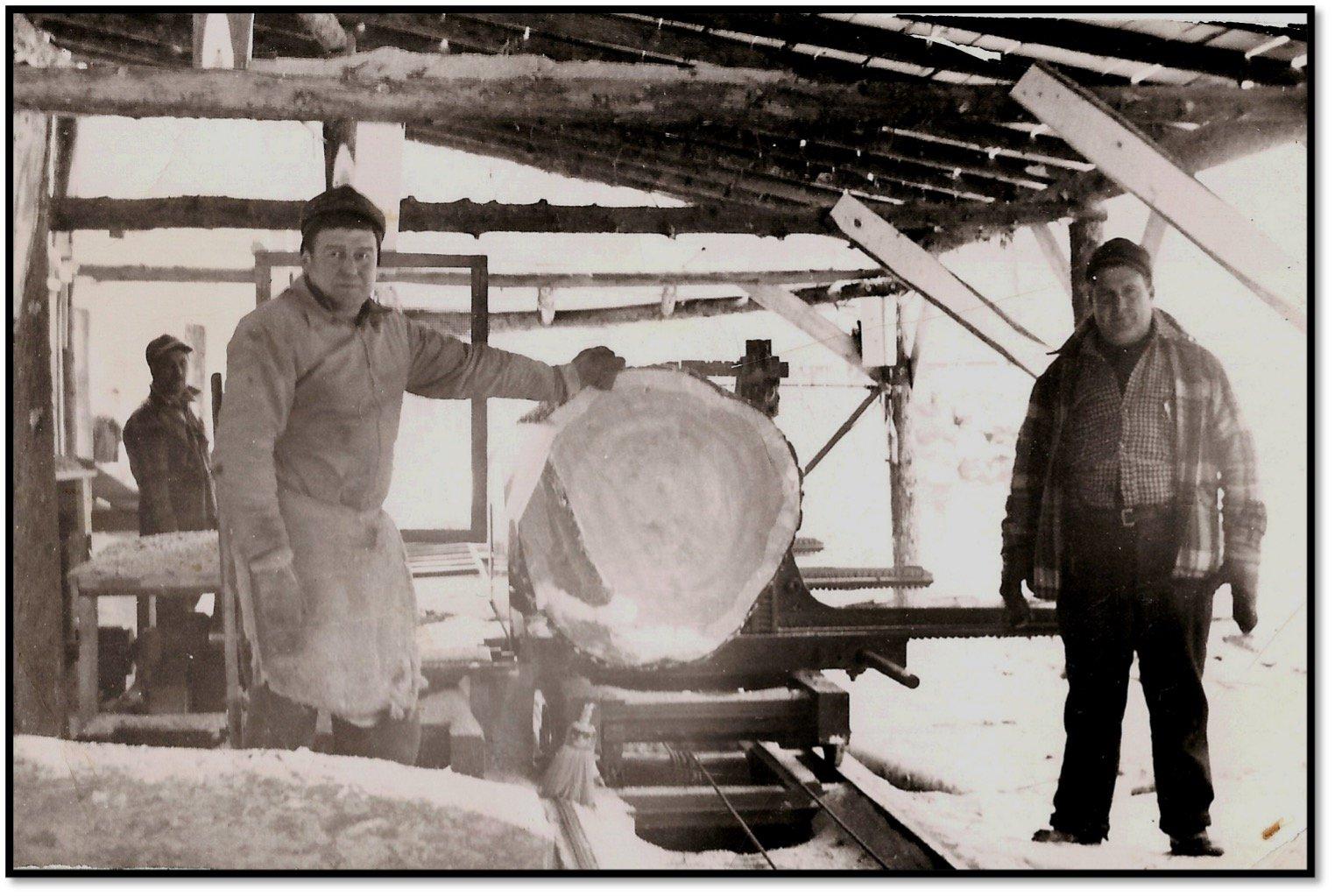 Last log cut at the Wachsmuth Mill BHA Photo