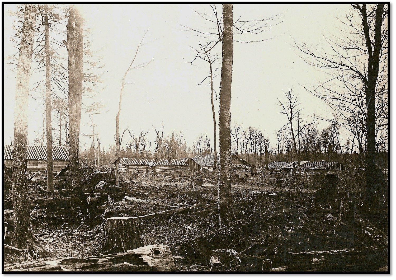 Wachsmuth Lumber Camp at Belanger Settlement - Township of Bayfield ca 1910 BHA 2004.23.4