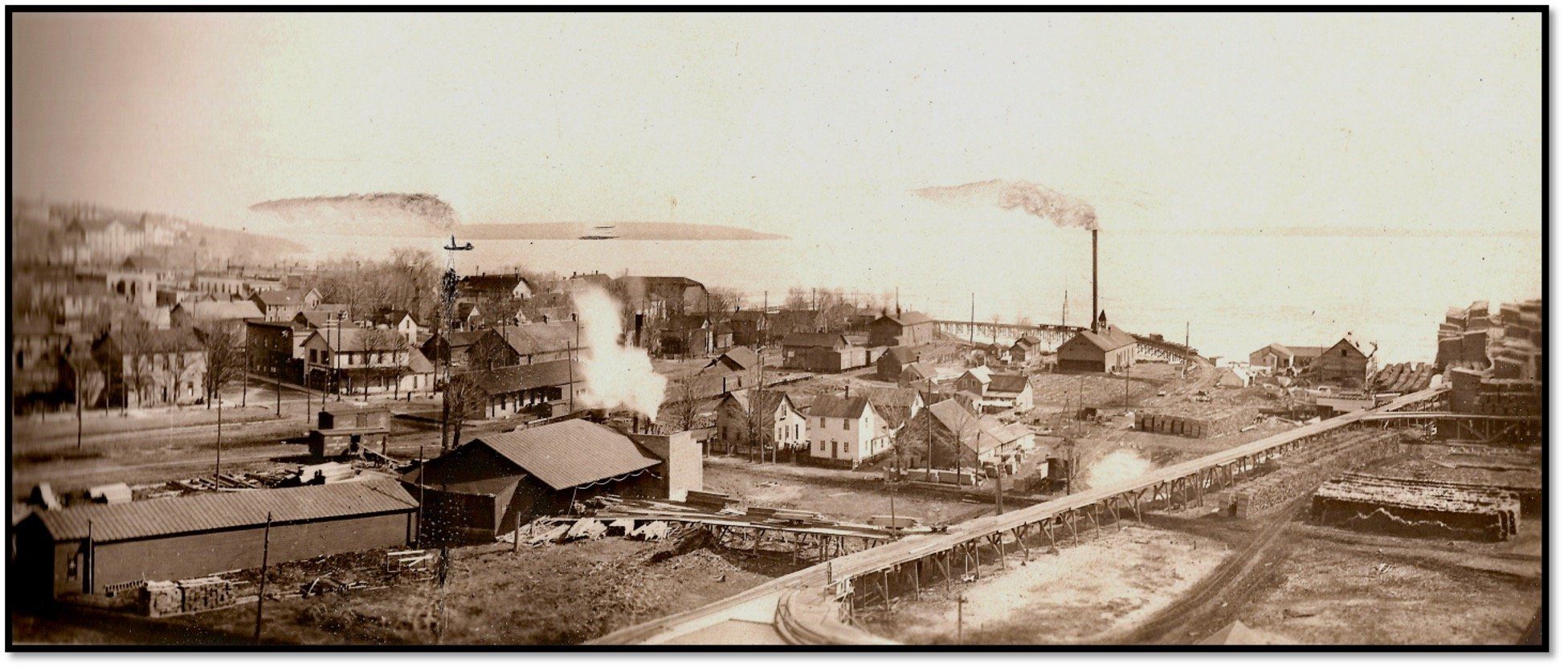 Bayfield Flats and Waterfront c 1911 Robert J Nelson Collection