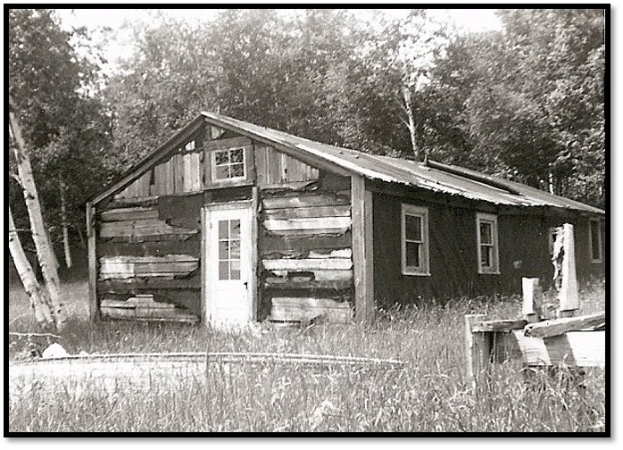 Eli LaPointe Lumber Camp Rocky Island ca 1966 Robert J Nelson Collection