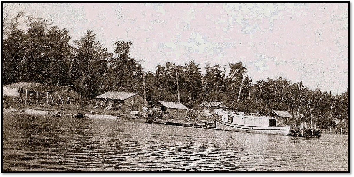 Eli LaPointe Logging Camp on Rocky Island Robert J Nelson Collection
