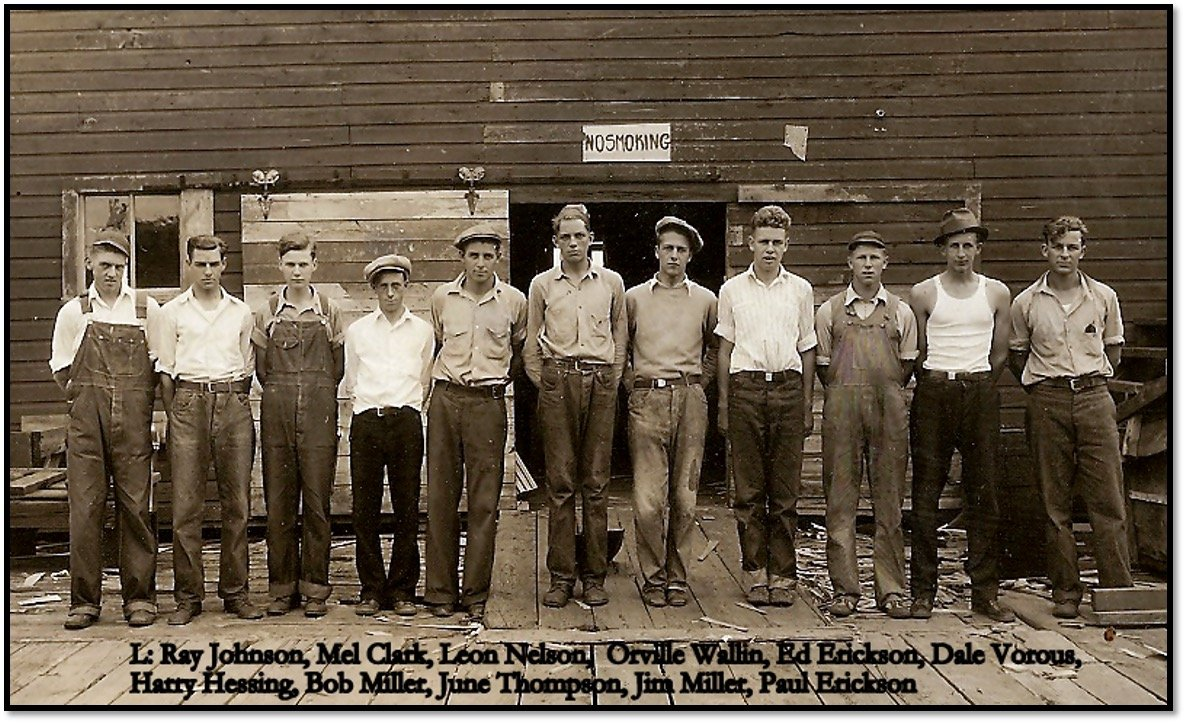 Employees of the Bayfield Fruit Packing Company - July 11 1933 James and Marge Miller Collection