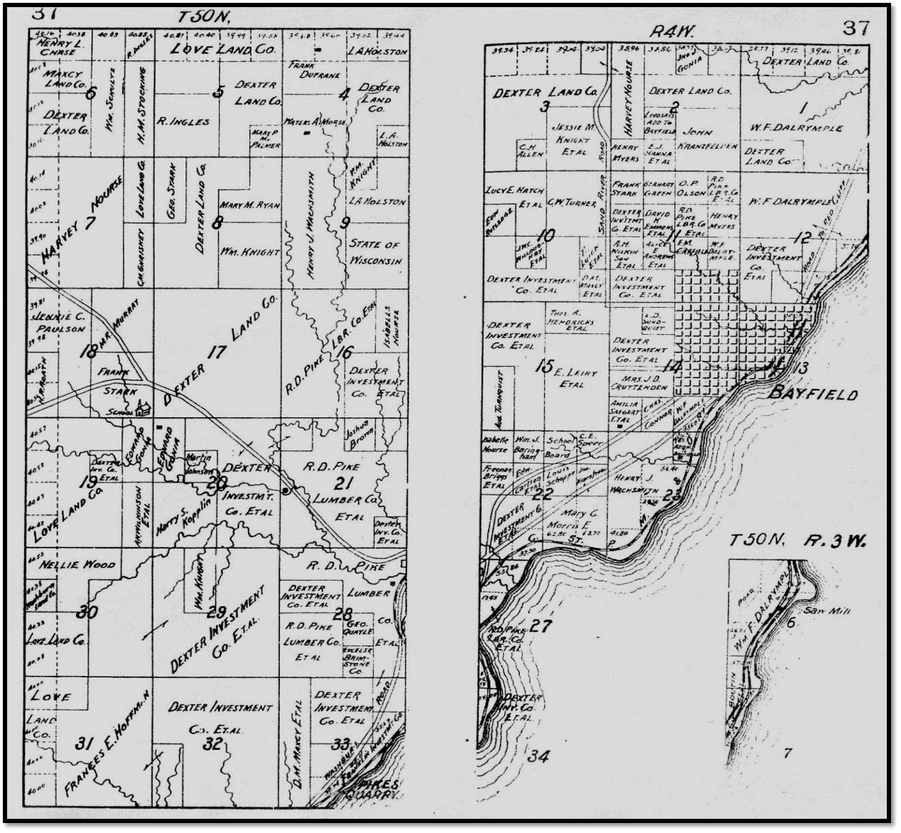 1906 Plat Town of Bayfield