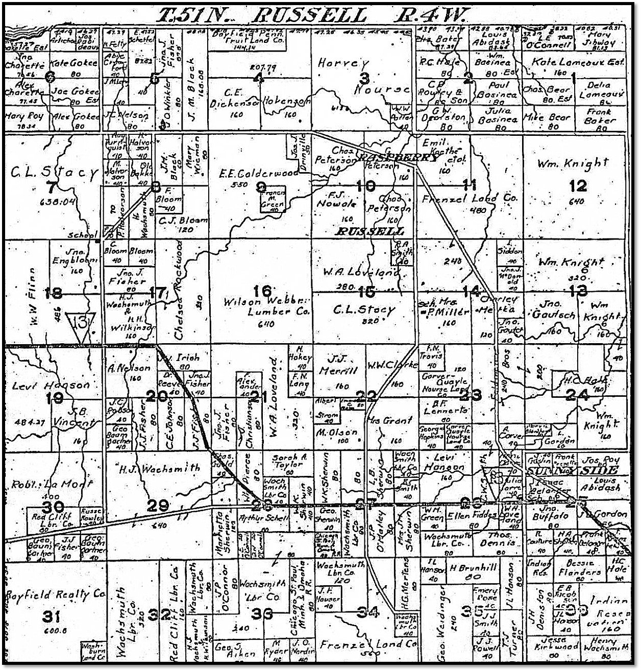 1906 Town of Russell Plat