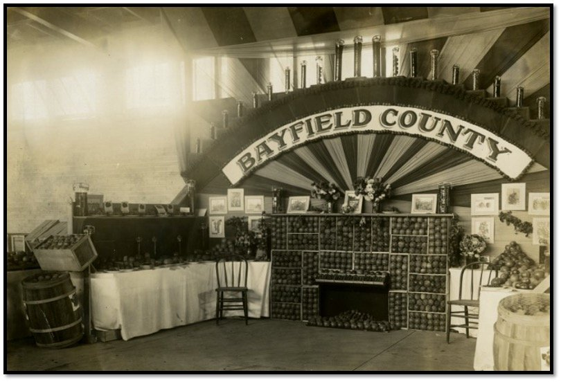 Bayfield Booth at the Wisconsin State Fair Milwaukee WI ca. 1911 BHA 2014.152.1