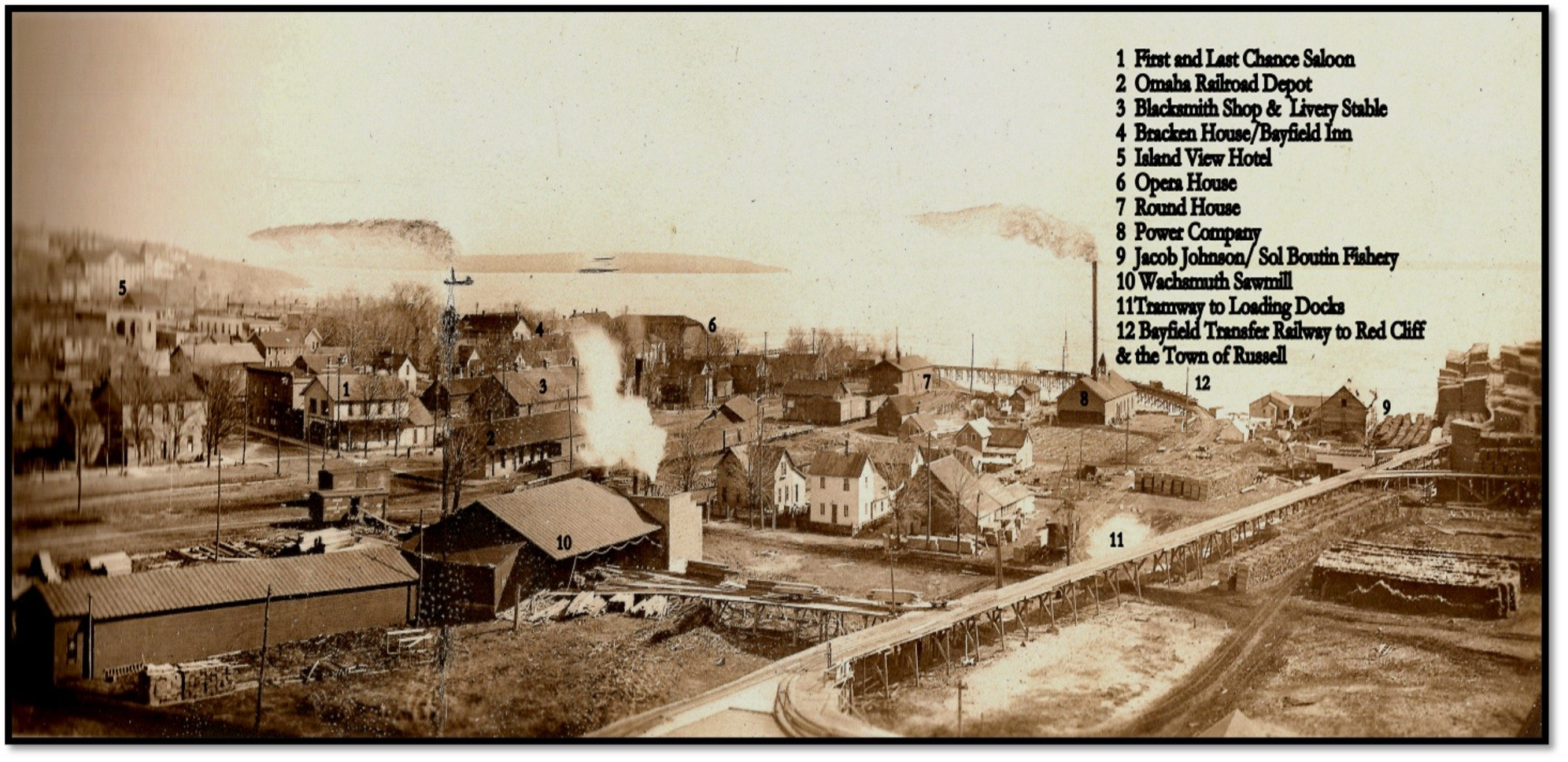 Waterfront at Bayfield Wisconsin 1911 Robert J Nelson Collection