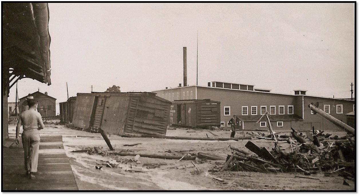 The Cannery later All-Wood Manufacturing storage building after July 16 1942 Flood