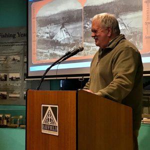 Bob Nelson making a presentation at BHA