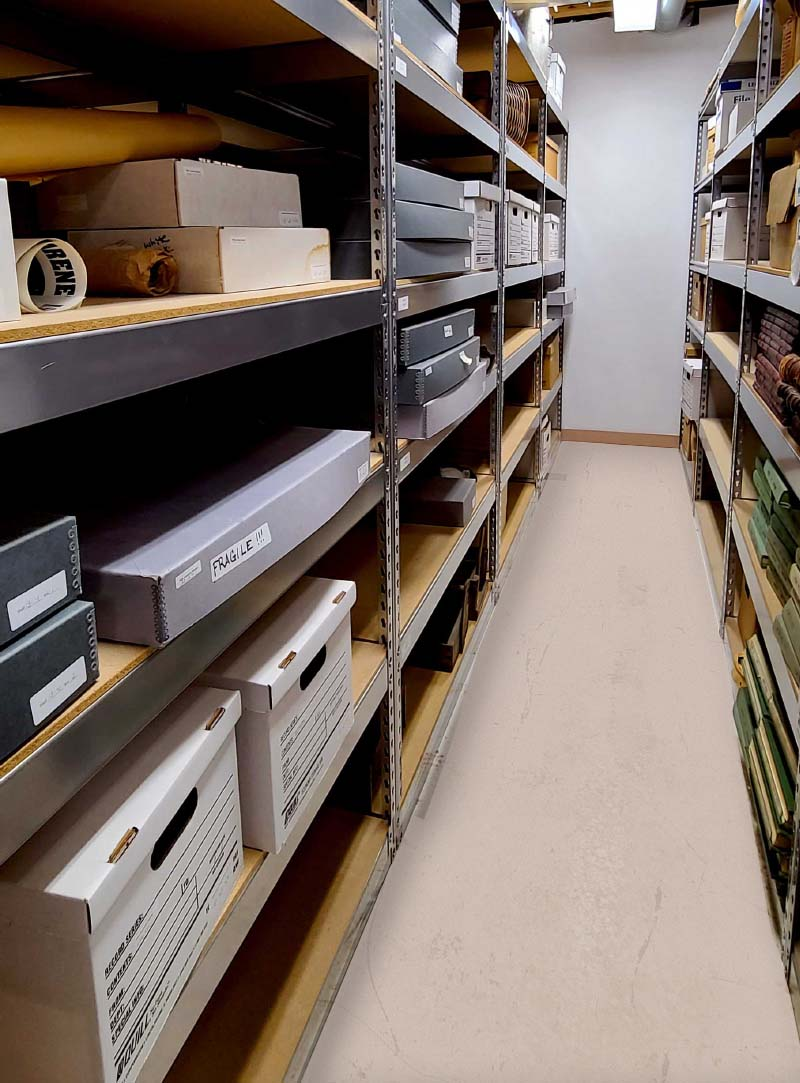 Aisle in Pike Research Center Storage Stacks